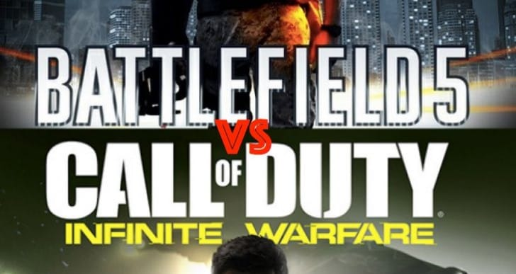 Battlefield 5 WW1 Vs COD Infinite Warfare in space