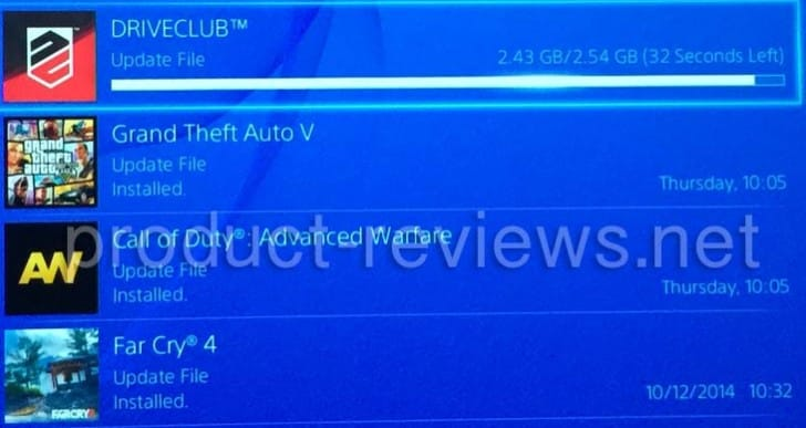 DriveClub 1.09 update live, 2.54GB size with notes