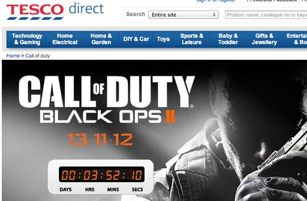 Black Ops 2 UK midnight release at Tesco, ASDA