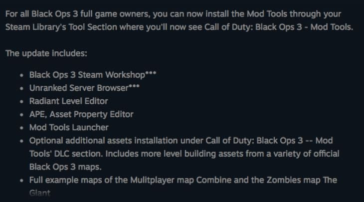 Call of Duty: Black Ops 3 official mod support enters open beta
