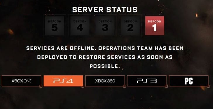 Black Ops 3 servers down on PS4, Xbox One with DEFCON 1