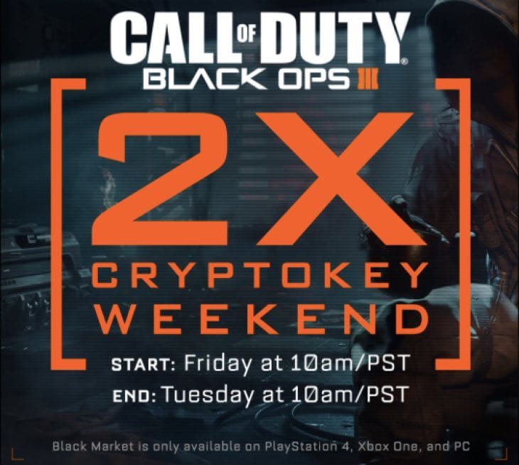 black-ops-3-double-cryptokey-weekend