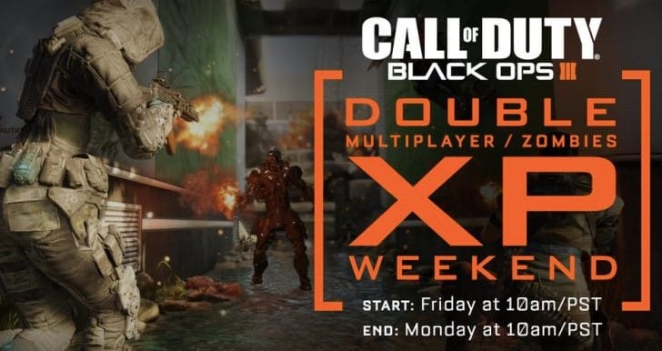 Black Ops 3 Double XP weekend start time for Jan 29