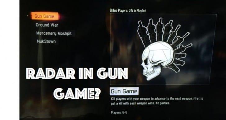 Black Ops 3 Gun Game update to remove radar