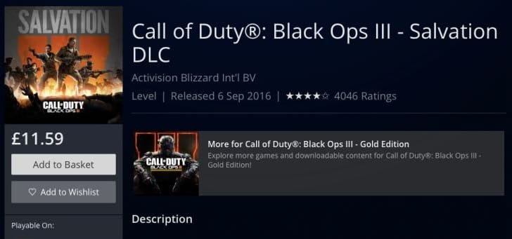 Black Ops 3 Salvation DLC download not working