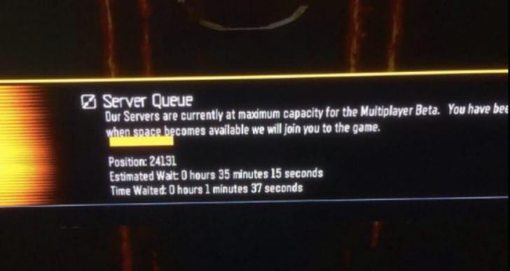 Black Ops 3 servers down with queue, error issues