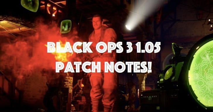 Black Ops 3 1.05 PS4 update with massive patch notes