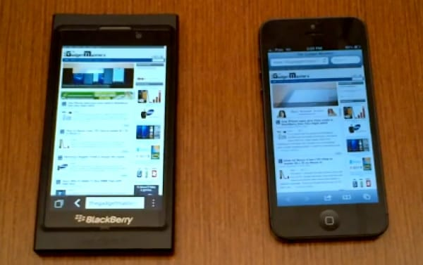 BlackBerry 10 vs iPhone 5 for speed