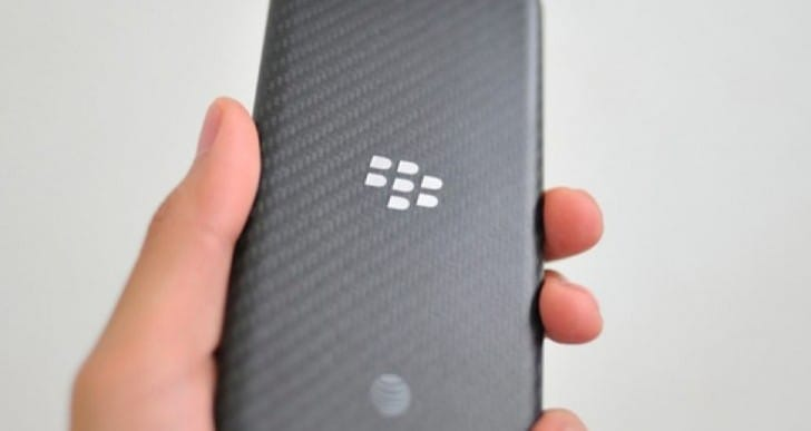BlackBerry A10 pictured with AT&T branding