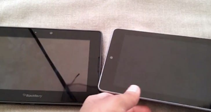 BlackBerry Playbook Vs Nexus 7 review for Christmas 2013