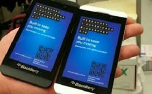 BlackBerry Z10 visualized in white