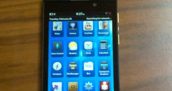 Verizon BlackBerry Z10 has lots of branding