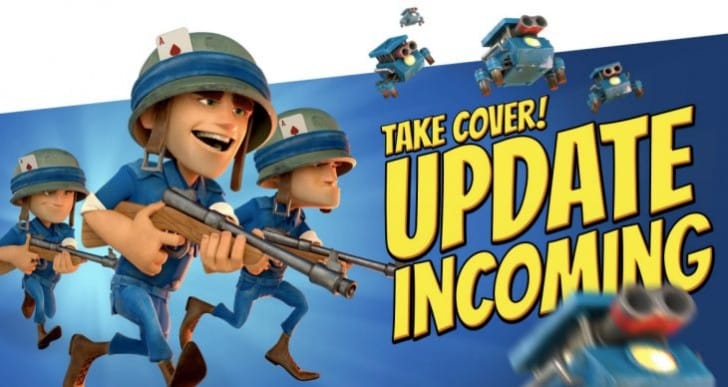 Boom Beach update notes list for December 15