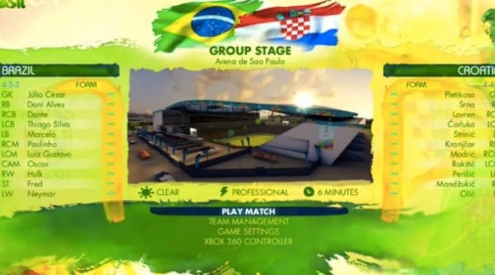 Brazil vs. Croatia prediction by FIFA players
