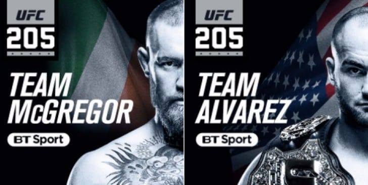 UFC 205 UK start time on BT Sport app