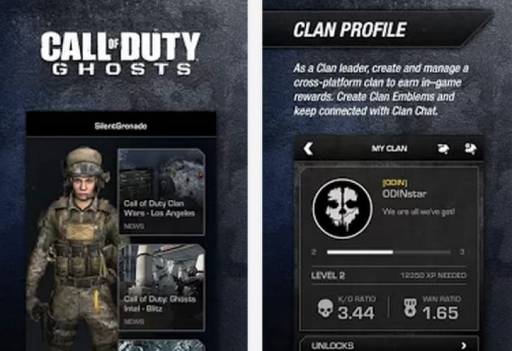 COD Ghosts clans with iOS, Android app problems