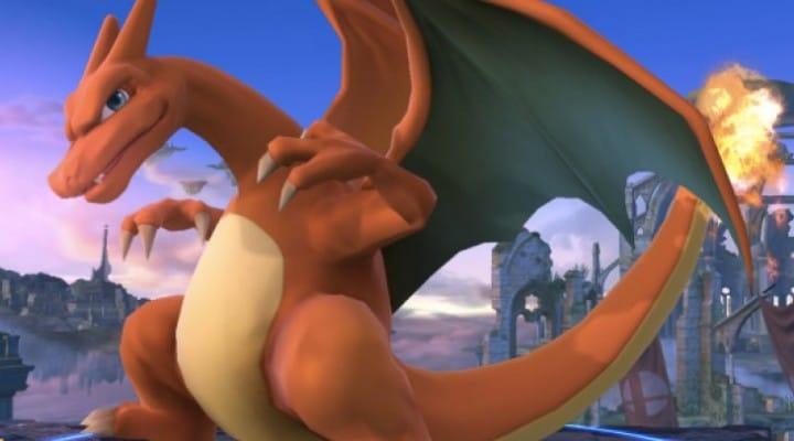 Mega Charizard X Final Smash in Smash Bros 4