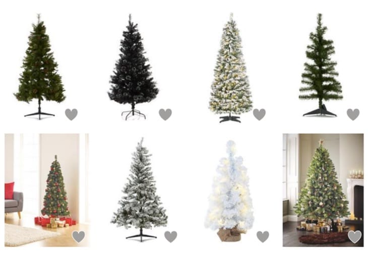 christmas tree sale at tesco asda and the range product. Black Bedroom Furniture Sets. Home Design Ideas