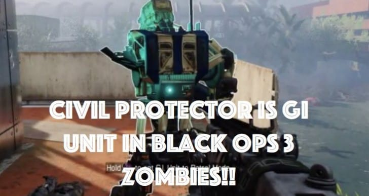 Black Ops 3 Civil Protector aka GI Unit in Zombies