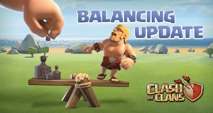 Clash of Clans March 8 update notes for balance changes