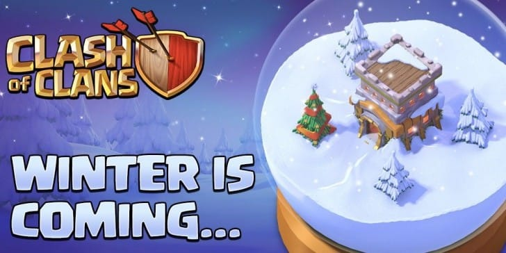 Clash of Clans Winter 2016 update with Christmas boxes