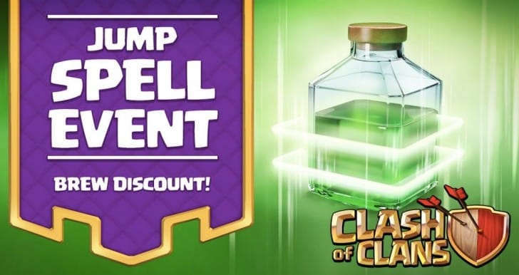 Clash of Clans Jump spell event before April update