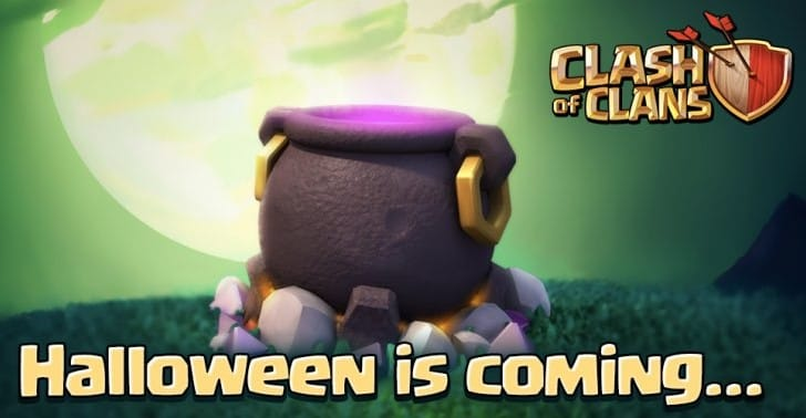 Clash of Clans Halloween 2015 update after maintenance