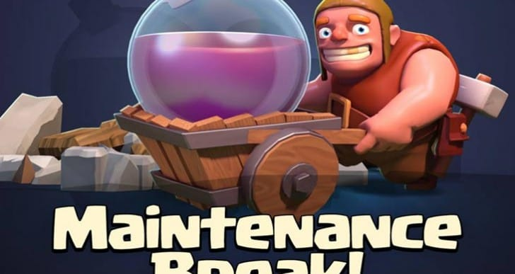 Clash of Clans March 25 maintenance break notes