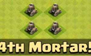 Clash of Clans 4th mortar strategy for Town Hall 8