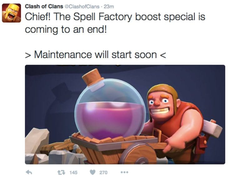 Clash of Clans November 2015 update after maintenance ...