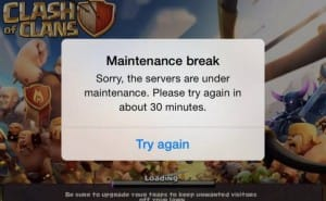 Clash of Clans servers down today for Gem boost