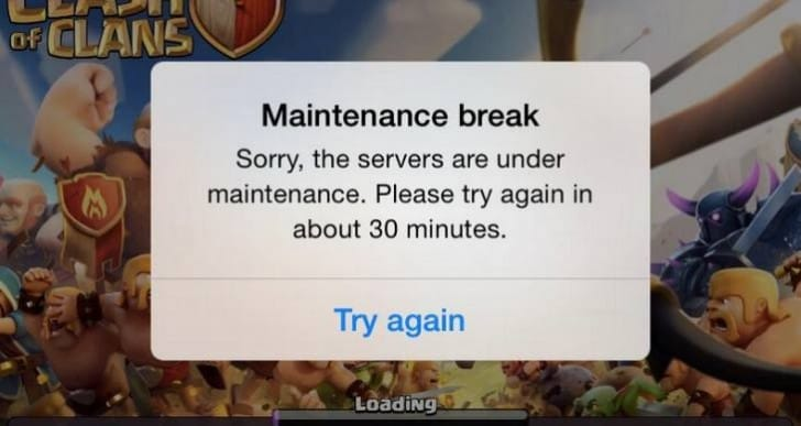 Clash of Clans down for maintenance, Sept 16 update