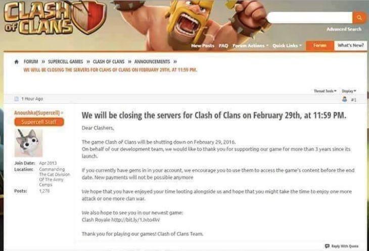 clash-of-clans-shutting-down-feb-29-fake