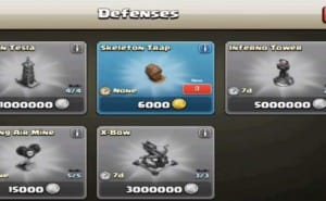 Clash of Clans Skeleton Trap strategy in maxed out gameplay