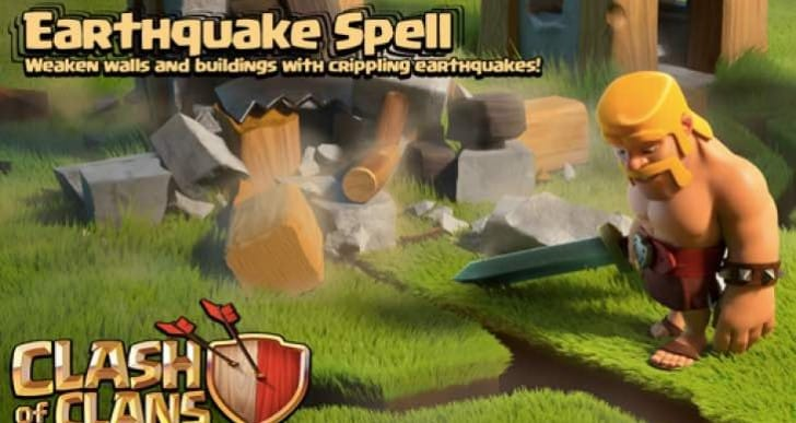 Clash of Clans Sneak Peek 4 is Earthquake dark spell