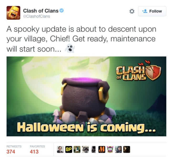 Clash of Clans Halloween 2015 update after maintenance ...