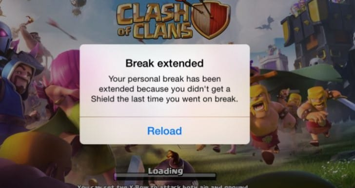 Clash of Clans update for old shield back