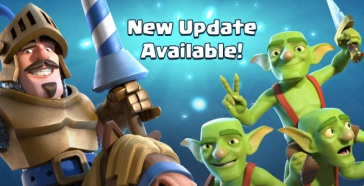 Clash Royale 1.2.0 update notes with new change list