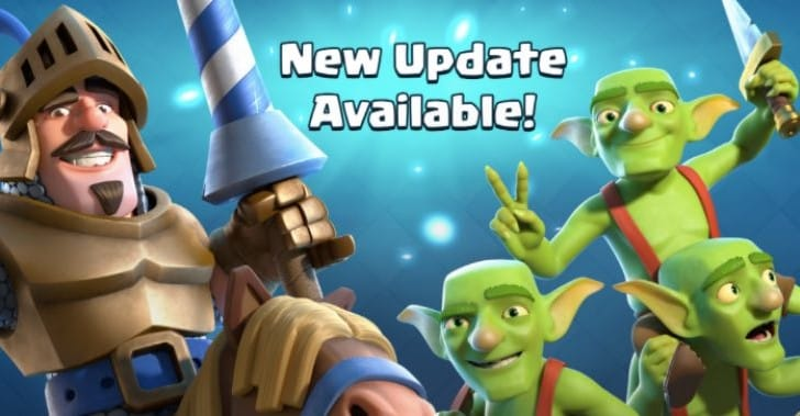 Clash Royale May 3 update notes with new cards list