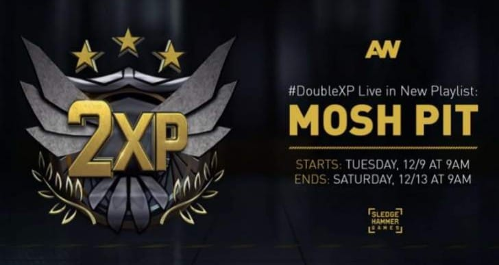 Advanced Warfare Double XP Mosh Pit end time for PST, GMT