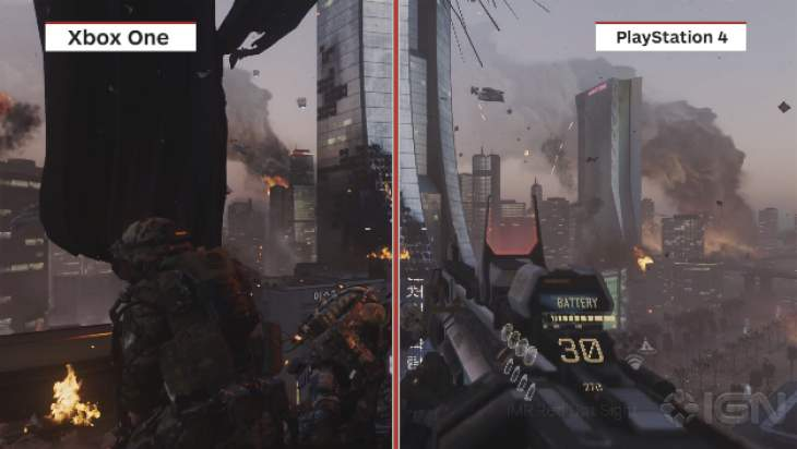 COD Advanced Warfare PS4 Vs Xbox One Vs PC graphics ...