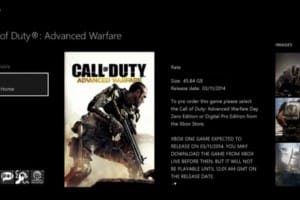 COD Advanced Warfare Install size on PS4, Xbox One