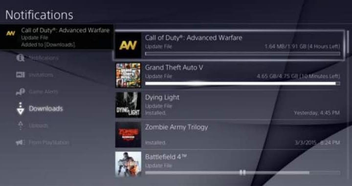 COD AW 1.14 PS4 update live with 1.91GB notes
