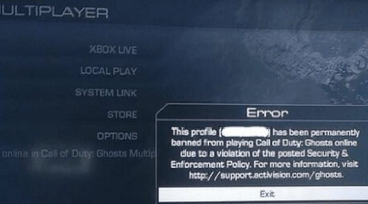 COD Ghosts bans provokes anger