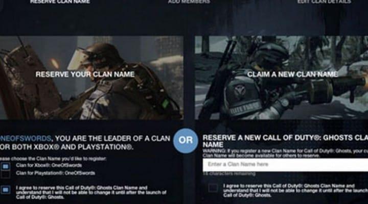 COD Ghosts Clan wars easier with registration hub