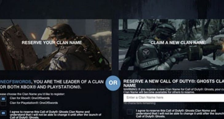 COD Ghosts Clan wars easier with registration hub