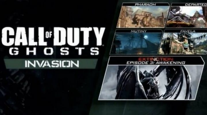 COD Ghosts Invasion DLC Map Pack 3 live