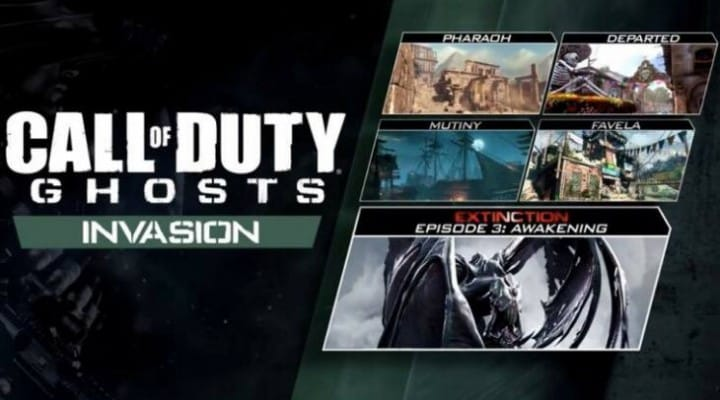 COD Ghosts Invasion PS4, PS3 release time