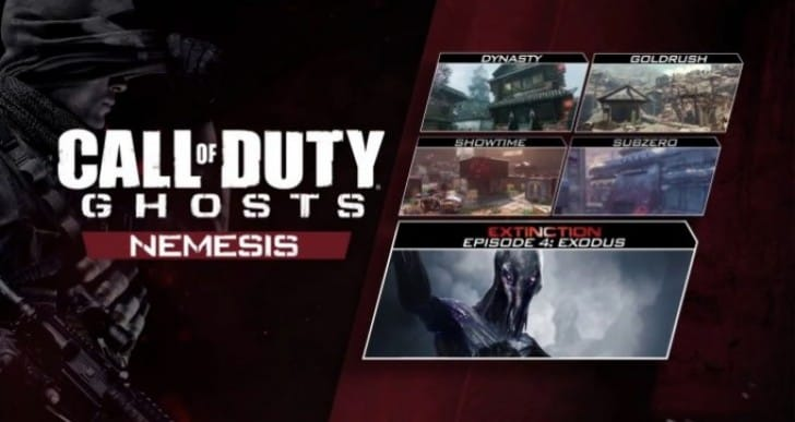 COD Ghosts Nemesis DLC PS4, PS3 release date