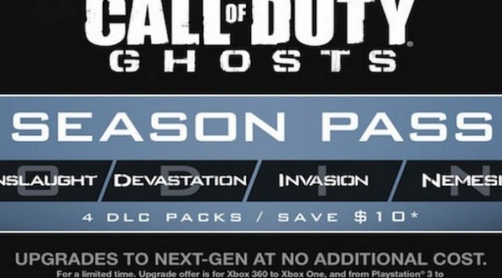 COD Ghosts Onslaught DLC Map Pack 1 release date